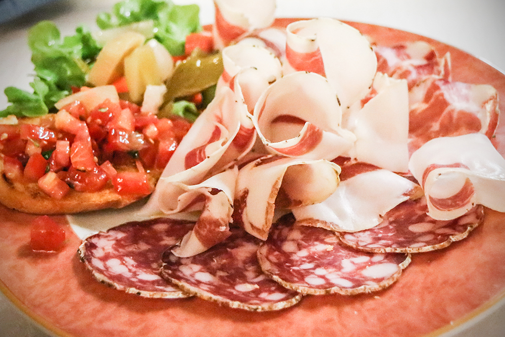 Mixed cured meats typical of the Bergamo area